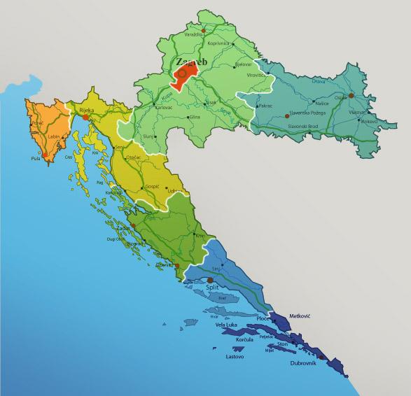 hrvatska regije